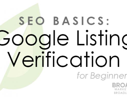 SEO Basics: Verifying Your Google Listing